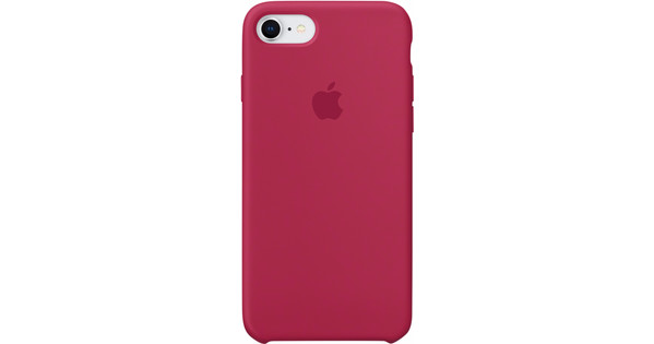 hot sales 41eb9 6dbc3 Apple iPhone 7/8 Silicone Back Cover Rose Red