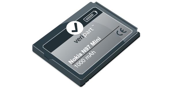 Veripart Battery Nokia N97 Mini 1000 mAh + Thuislader