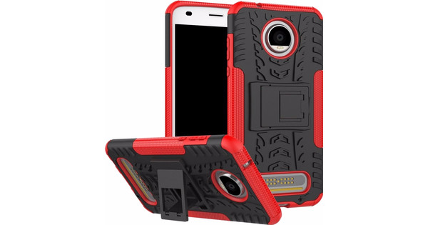 Just in Case Rugged Hybrid Moto Z2 Play Case Back Cover Rood