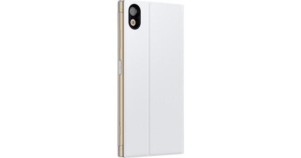 Sony Xperia XA1 Plus Style Stand Book Case White