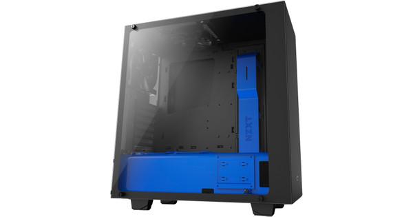 NZXT S340 Black / Blue Elite