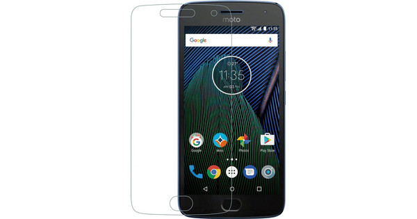 Azuri Motorola Moto G5 Plus Screen Protector Tempered Glass Duo Pack