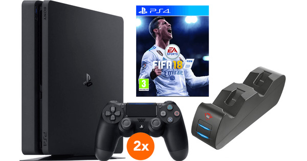 Sony PS4 Slim 500 GB FIFA 18 Multiplayer bundel