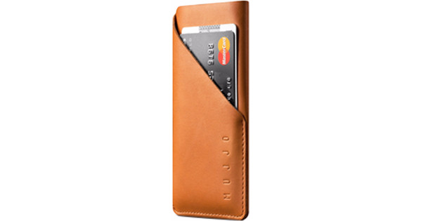 Mujjo Leather Wallet Sleeve Apple iPhone X Pouch Brown