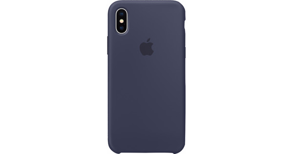 Apple iPhone X Silicone Back Cover Donkerblauw