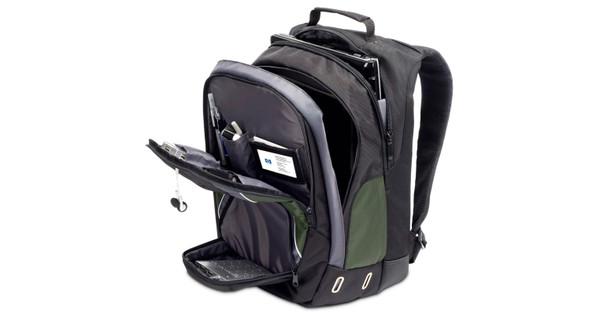 cd3c98671e5 HP Laptop Sport Rugzak 17,3'' Zwart/Groen - Coolblue - Voor 23.59u ...