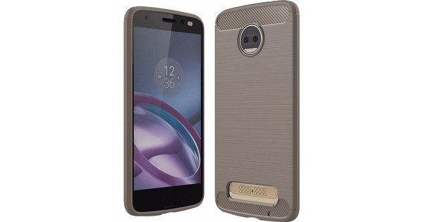 low priced a391c 27a64 Just in Case Rugged TPU Motorola Moto Z2 Force Back Cover Gray