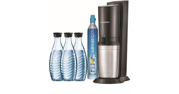 SodaStream Crystal Zwart + 3 karaffen