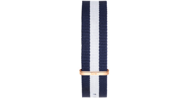 Daniel Wellington Glasgow Strap Rose Gold 20mm