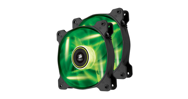 Corsair SP120 High Static Pressure Edition Green LED 2 Pack