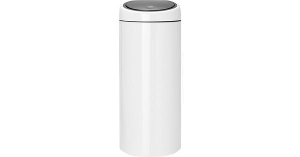 Brabantia Touch Bin 30 Liter Wit.Brabantia Touch Bin 30 Liter Wit