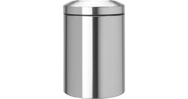 Brabantia Papierbak met Vlamdover 15 Liter Matt Steel