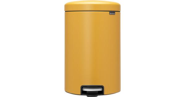 Brabantia NewIcon Pedaalemmer 20 Liter Mustard Yellow