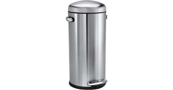 Simplehuman Afvalemmer Rectangular 38 Liter Mat Rvs.Simplehuman Retro Stepcan 30 Liter Rvs Coolblue Voor 23 59u
