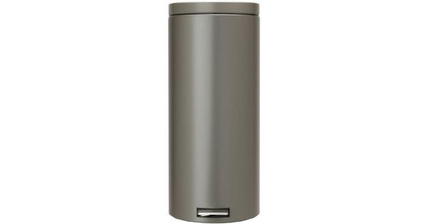 Brabantia Pedaalemmer 30 Liter Platinum