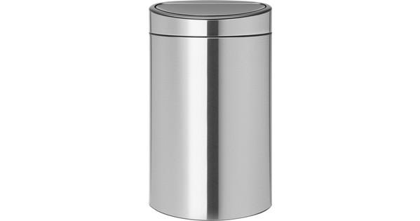 Prullenbak Brabantia Touch Bin 10 Liter.Brabantia Touch Bin Recycle 10 23 Liter Matt Steel