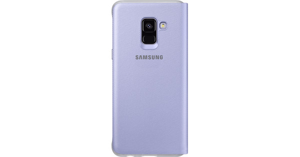 Samsung Galaxy A8 (2018) Neon Flip Cover Purple