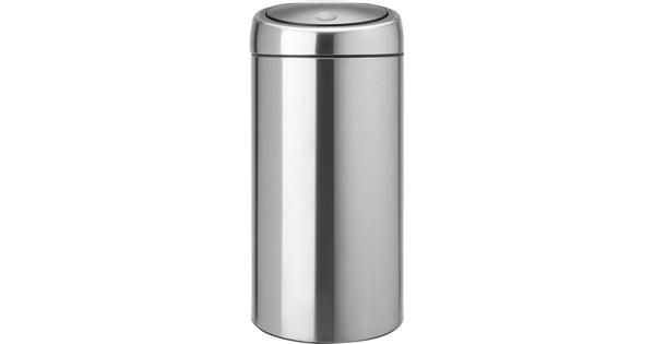 Touch Bin 45 Liter.Brabantia Touch Bin 45 Liters Matte Steel Fingerprint Proof Before