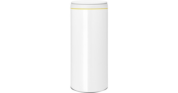 Brabantia Touch Bin Flat Top 30 Liter Wit.Brabantia Flipbin 30 Liter Wit