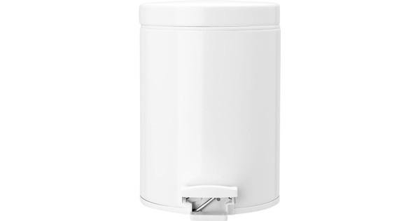 Vaak Brabantia Pedaalemmer 5 Liter Wit - Coolblue - Voor 23.59u, morgen LW34
