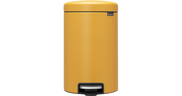 Brabantia NewIcon Pedaalemmer 12 L Mineral Mustard Yellow