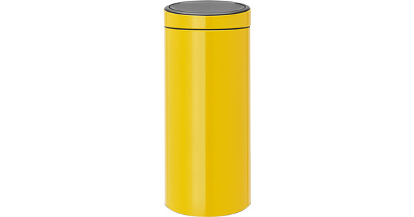 Brabantia Touch Bin 30 Liter.Brabantia Touch Bin 30 Liters Daisy Yellow Before 23 59 Delivered