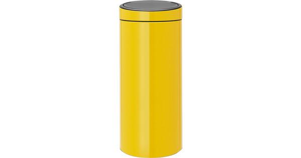 Brabantia Touch Bin Afvalverzamelaar 30 Liter.Brabantia Touch Bin 30 Liter Daisy Yellow