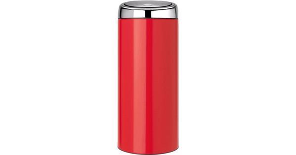 Brabantia Touch Bin 30 L Flat Top.Brabantia Touch Bin 30 Liters Passion Red