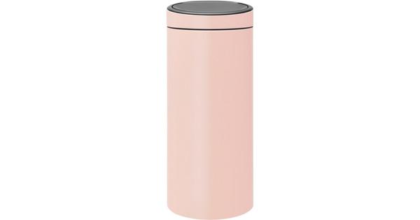 Brabantia Prullenbak Roze.Brabantia Touch Bin 30 Liter Clay Pink