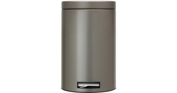 Pedaalemmer Brabantia 12 Liter.Brabantia Pedaalemmer 12 Liter Platinum