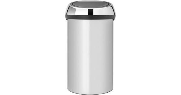 Brabantia Prullenbak 60 Liter.Brabantia Touch Bin 60 Liter Metallic Gray