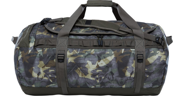 88f69d253 The North Face Base Camp Duffle L Green Tropical Camo/Taupe