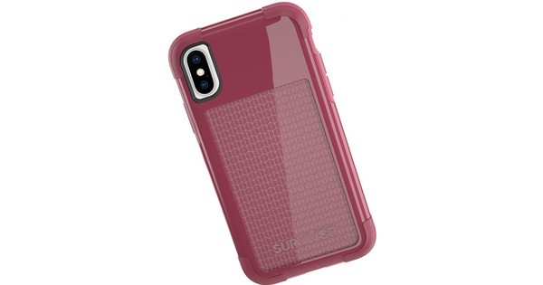 sneakers for cheap c3dd0 18ab0 Griffin Survivor Fit Apple iPhone X Back Cover Red