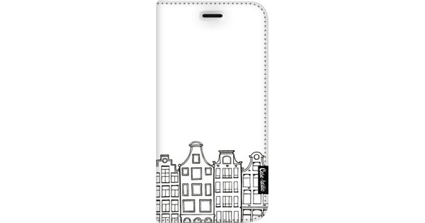 Casetastic Wallet Apple iPhone 8 Plus Book Case Amsterdam Canal Houses White
