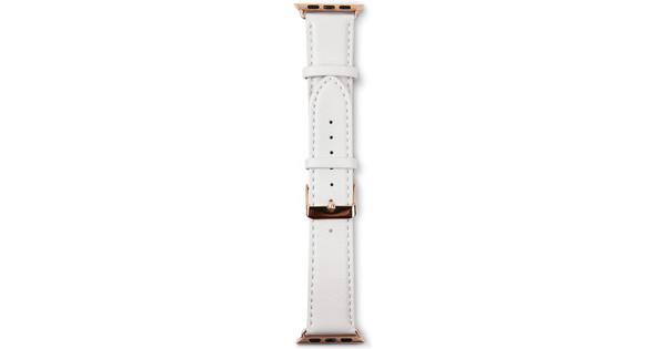 Copenhagen Apple Watch 42mm Leren Horlogeband Wit