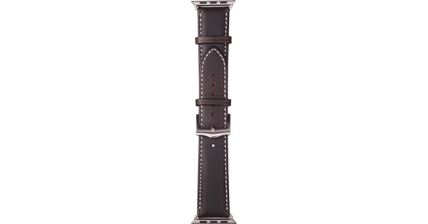 Copenhagen Apple Watch 38mm Leren Horlogeband Bruin/Zilver