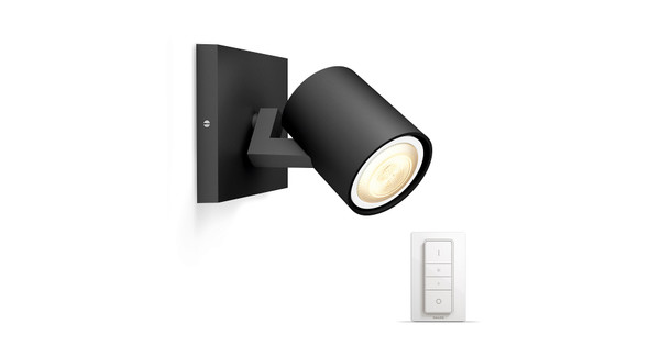 Hue Lampen Coolblue : Philips hue runner spot black with dimmer coolblue anything