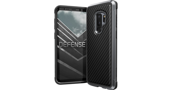 90602c2d2a6dd5 X-Doria Defense Lux Carbon Samsung Galaxy S9 Plus Back Cover Black - Before  23 59, delivered tomorrow