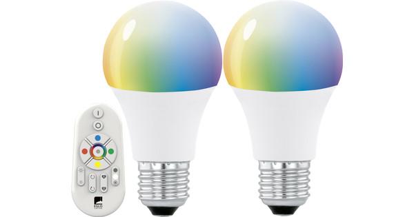 Lampen Op Afstandsbediening : Eglo connect white and color 9w e27 duopack met afstandsbediening