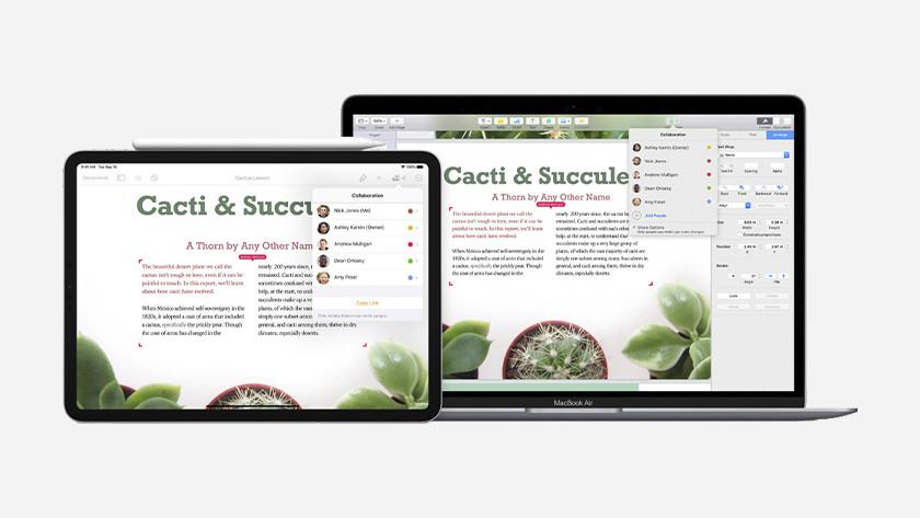 Apple Pages op iPad en MacBook