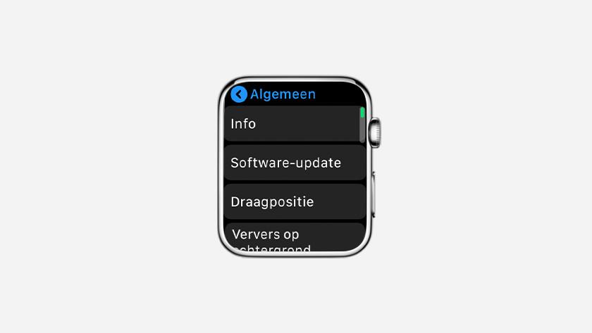 Klik op 'Algemeen' en dan op 'Software-update'