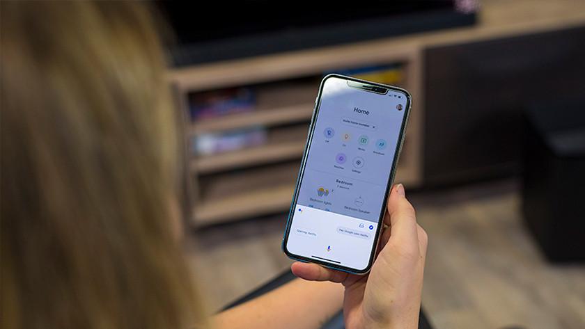 Spraakassistent in de Google Home app