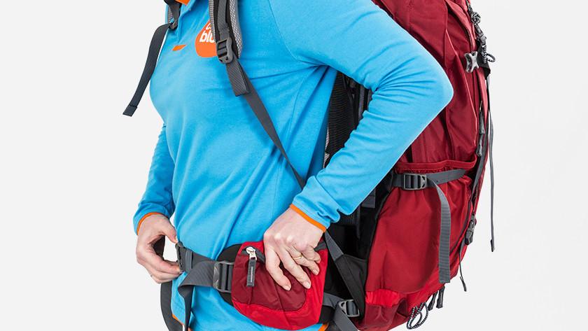 Attach hip belt backpack