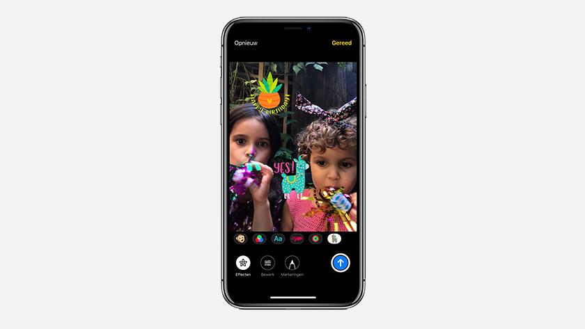 iOS 12 camera-effecten