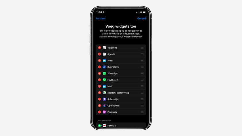 Apple iPhone widgets
