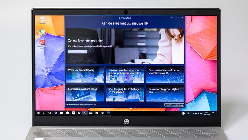 HP bloatware op een HP laptop.