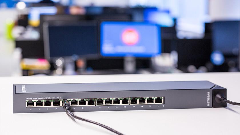 Zakelijk netwerk met een switch