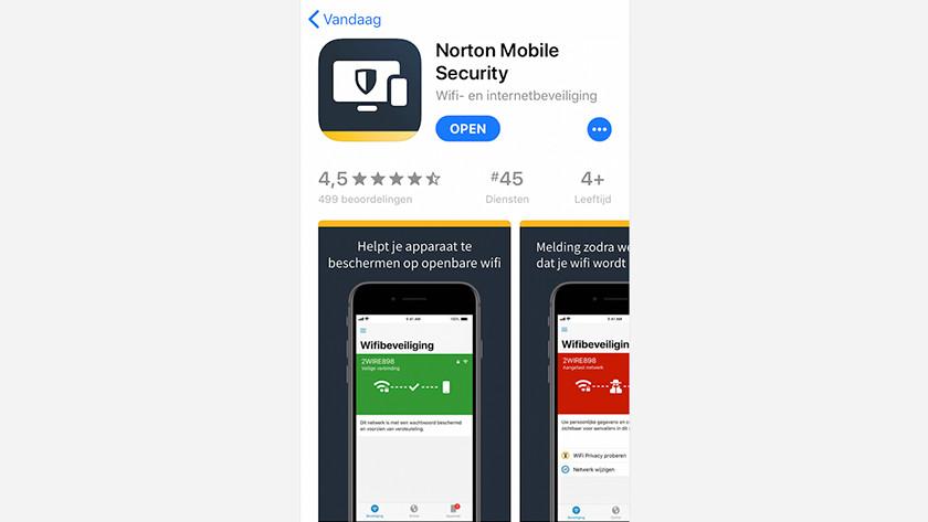 Norton app openen