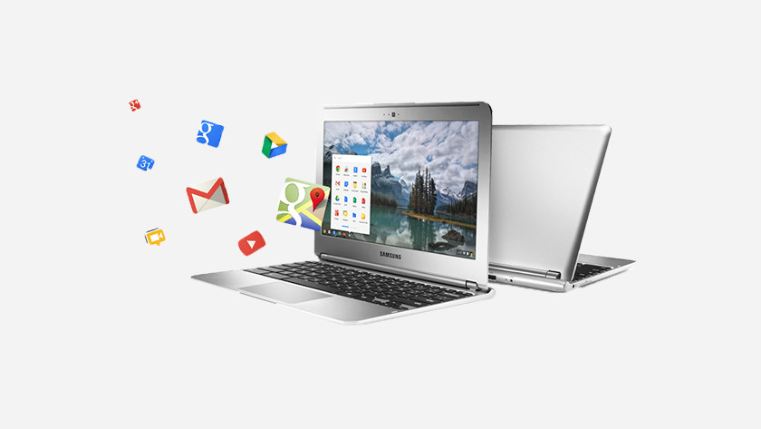 Twee Chromebooks achter elkaar.