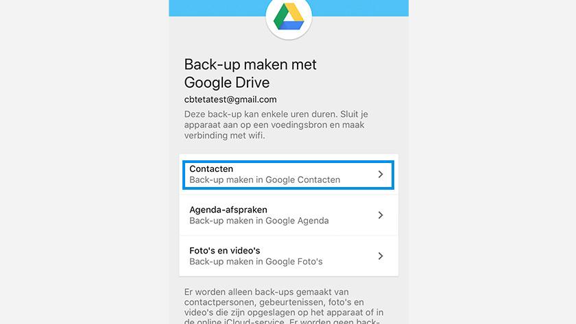 iOS Android contacten